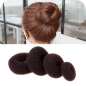 iWenSheng 4 piece Bundles Women Hot Chignon Hair Donuts Ring Style Bun Maker (XL, L, M, S)