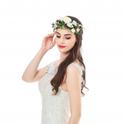 Floral Halo Headpiece Flower Headband - AWAYTR Fashion Pinecone Simulation Flower Wreath Women Girl Hair Accessory