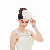 Cocktail Sinamay Fascinator Derby Hat - AWAYTR Flower Net Veil Wedding Party Accessories Hair Clip Hat