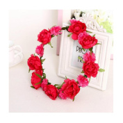 Cocokk Boho Style Floral Flower Women Hairband Festival Party Wedding Forehead Head Hair Accessories