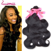 Lin Hair Unprocessed Virgin Brazilian Body Wave Human Hair Extensions Brazilian Natural Hair Weave Weft Bundles #1b 3pcs