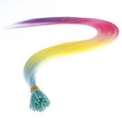 """Savena Straight I Tip Hair Extensions Colourful Synthetic 0.5g/Piece 50pcs/Pack Stick Tip Hair 18"""""""
