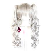 Sayuri - Silver Grey Wig 60cm Curly Pig Tails + 30cm Bob Cut Base Wig Set