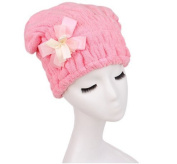 BB & Love Women's Cute Bowknot Dry Hair Towel Cap Shower Bathing Hat