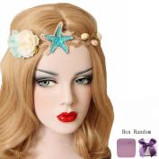 Bodermincer Mermaid Sea Star Starfish Hairbands Mermaid Hair Accessories Headband Mermaid Costume
