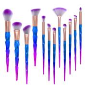 ExGizmo Professional Kabuki Makeup Colourful Foundation Eyebrow Cosmetic Brushes Set Kit