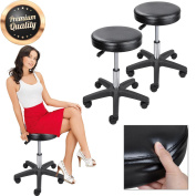 GC Global Direct Black Adjustable Tattoo Salon Stool Rolling Chair Facial Massage