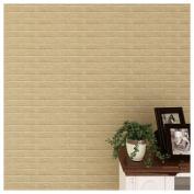 Brick Wall Decor, Inkach 30X60cm PE Foam 3D Wall Stickers DIY Brick Stone Embossed Wall Decor Home Decals