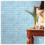 Brick Wall Decor, Inkach 30X60cm PE Foam 3D Wall Stickers DIY Brick Stone Embossed Wall Decor as Real Home Decals