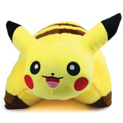 Pokémon Pikachu Decorative Pillow & Soft Plush Stuffed Toy | Yellow | Large 46cm x 30cm | Premium Quality | Perfect Gift For Kids by Alpha-One Sellers