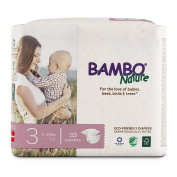 Bambo Nature Premium Baby Nappies, Size 3, 33 Count