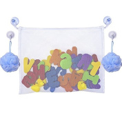 Baby Bath Tub Toys Mesh Bag Bathroom Toys Storage Organiser with 4 Suction Cups