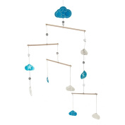 Midwest-CBK Clouds and Stars Nursery Mobile, Blue/White