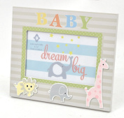 Concepts Zoo Animal Picture Frame Cutout Applique Wood Picture Frame 10cm x 15cm