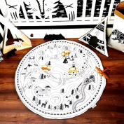 Hiltow Round Area Rugs and Carpet Super Soft Bedroom Carpet Rug for Kids Play