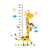 CHUANGLI Giraffe Monkey Height Measure Removable PVC Wall Stickers Rooms Decoration Decals