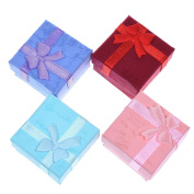 4 Pieces Display Ring,Necklaces,Earrings,Bracelet Jewellery Gifts Storage Boxes