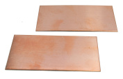 NinjaCrafters Copper Rectangle Practise Sheets for Hand Stamping - Two (2) 20 gauge 5.1cm x 10cm sheets, Unfinished Metal Stamping Blank