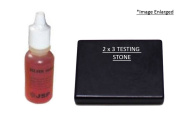 . Silver Testing Solution and 2x3 Testing Stone