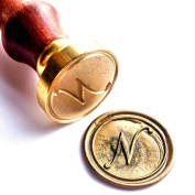Vooseyhome Initial Letter Alphabet N Wax Seal Stamp with Rosewood Handle