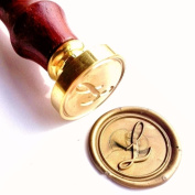 Vooseyhome Initial Letter Alphabet L Wax Seal Stamp with Rosewood Handle
