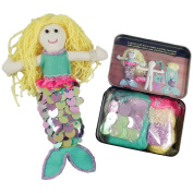 Make Your Own Pretty Mermaid Arts & Crafts Gift Tin Set Accessories Included