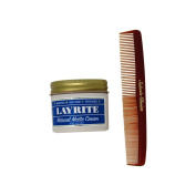 Bundle -2 items : Layrite Natural Matte Cream 130ml & Salon's Choice Barber Comb