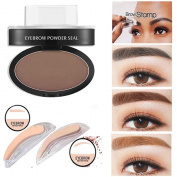 SHERUI Eyebrow Stamp for Perfect Eyebrow Natural-looking Eyebrows Enhancer Dark Brown