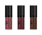 GR Cosmetics Mini Liquid Matte Lipstick Set of 3 Dark Shades, Long Lasting Coverage