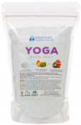 New Yoga Bath Salt - 0.5kg Size (470mls) - Epsom Salt Bath Soak With Grapefruit, Eucalyptus, Lavender, & Jasmine Essential Oils Plus Vitamin C - Perfect Soak For Pre Or Post Yoga Practise