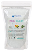 New Zen Bath Salt - 0.5kg Size (470mls) - Epsom Salt Bath Soak With Cedarwood, Rosemary, & Eucalyptus Essential Oils Plus Vitamin C Crystals - A Japanese Style Aromatherapy Bath