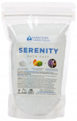 New Serenity Bath Salt - 0.5kg Size (470mls) - Epsom Salt Bath Soak With Frankincense, Lavender, Ylang Ylang, & Grapefruit Essential Oils Plus Vitamin C Crystals - Serene Aromatherapy Bath Salts