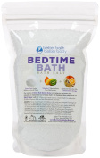 New Bedtime Bath Salt - 0.5kg (470mls) - Epsom Salt Bath Soak With Chamomile & Orange Essential Oil Plus Vitamin C Crystals - Ease Into Your Bedtime Routine With A Relaxing Aromatherapy Bath