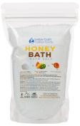 New Honey Bath Salt - 0.5kg Size (470mls) - Epsom Salt Bath Soak With Honey Fragrant Oil Plus Vitamin C Crystals - Enjoy The Rich Sweet Aromatherapy Of This Honey Bath Soak