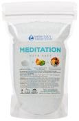 New Meditation Bath Salt - 0.5kg Size (470mls) - Epsom Salt Bath Soak With Frankincense & Orange Essential Oil Plus Vitamin C - Calm & Peaceful Meditative Aromatherapy - All Natural Bath Salts