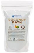 New Coconut Bath Salt - 0.5kg Size (470mls) - Epsom Salt Bath Soak With Coconut Fragrant Oil Plus Vitamin C Crystals - Enjoy The Sweet Exotic Aromatherapy Of Coconut