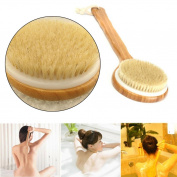 Lowpricenice(TM) Long Handle Wooden Bath Shower Body Back Brush Spa Scrubber Exfoliating Bath Tool