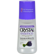 Crystal Essence Roll On Mineral Deodorant Lavender and White Tea - Paraben Free - Hypoallergenic - 70ml