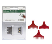 Wahl Professional Double Wide Trimmer Replacement Accessories - T-Blade Bundled with Trimmer Guides