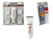 Wahl Professional Peanut Classic Cutter/Trimmer Bundled with 8 Colour Coded Cutting Guides with Organiser