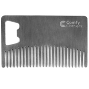 Comfy Clothiers Wallet Comb - Beard & Moustache Comb with Bottle Opener