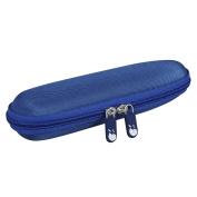 Hard EVA Travel Blue Case for Panasonic ER-GN30-K Nose Ear Hair Trimmer by Hermitshell