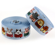 Midi Ribbon Value Pack Have A Very Happy Father's Day Single Face Printed Grosgrain Ribbon 2.5cm X 10 Yards/Pack handmade Hair Bow Hair Clip Gift Wrapping Card Deco