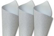 M-Sparkle Silver Glitter 8.5x11 Card Stock - 10 Pk