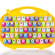 Scrapbook Paper Punchers - 58pc Hole Punching Set w Case - All Different Crafting Designs