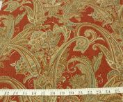 Hobby Lobby, Red, Greens and Tans in a Paisley Swirl, By the yrad
