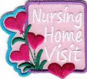 """""""NURSING HOME VISIT"""" - Iron On Embroidered Patch - TRIP - VISIT"""