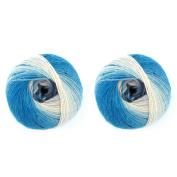 BambooMN Brand - Galaxy Fantasy Yarn - 2 Skeins - Glacier - Colour 105