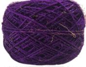 Recycled Sari Silk Yarn - Solid Colour Magenta