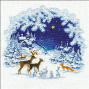 Christmas Counted Cross Stitch Kit-45cm x 45cm 15 Count